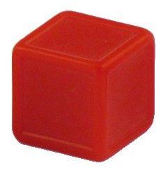 Blankowürfel 19mm rot