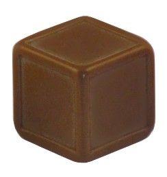 Blankowürfel 19mm braun