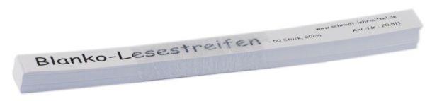Blanko Lesestreifen 20cm