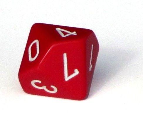 Ziffernwürfel 0-9 - rot