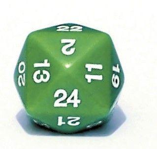 Ziffernwürfel 1-24 - grün
