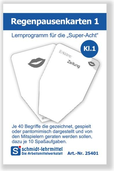 Regenpausenkarten Kl 1 (Super-8)