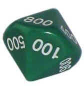 Ziffernwürfel 000-900 - grün