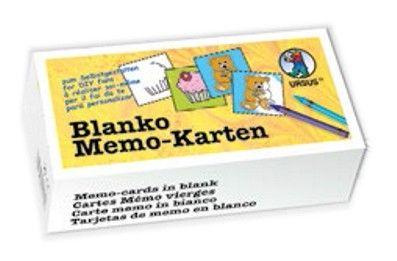 Blanko-Memo-Karten