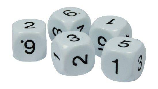 Würfelset Zahlen 1-6