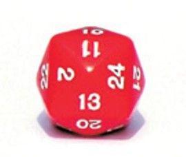Ziffernwürfel 1-24 - rot