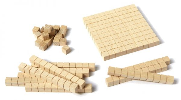 Zehnersystemsatz - 100er Box Holz