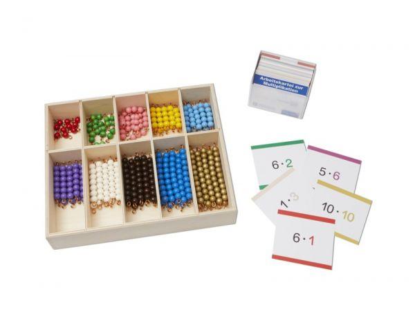 Perlenmaterial Komplettset (Montessori)