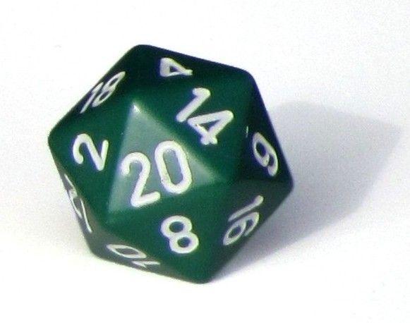 Ziffernwürfel 1-20 - grün