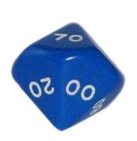 Ziffernwürfel 00-90 - blau