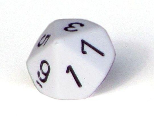 Ziffernwürfel 0-9 - weiß