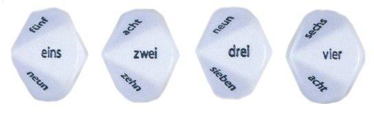 Zahlwort-Würfel DE