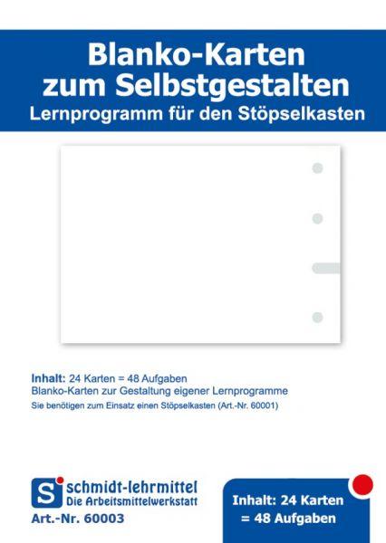 Blanko Karten f. Stöpselkasten (24Stk)