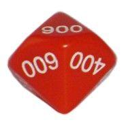Ziffernwürfel 000-900 - rot