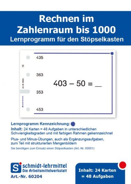 Rechnen +, - bis 1000 (Stöpselk.)