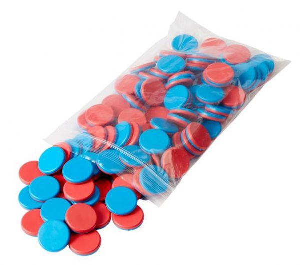 Wendeplättchen - blau/rot (100Stk)