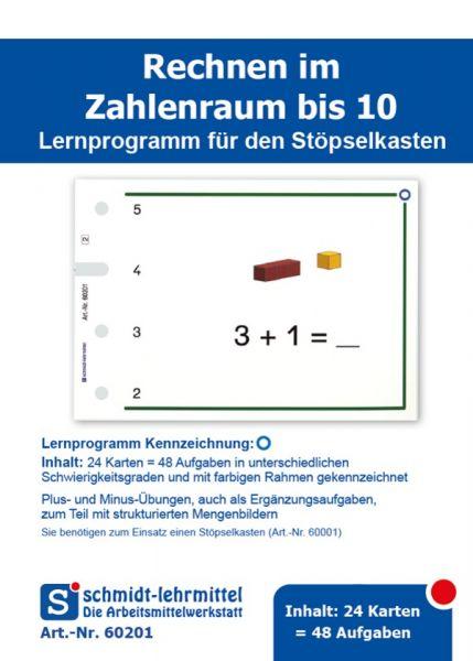 Rechnen +, - bis 10 (Stöpselk.)